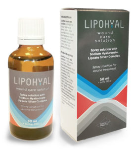 Lipohyal bottle and pack