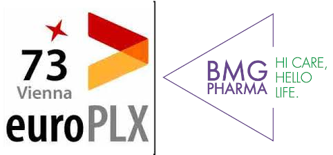 logos of BMG Pharma and euroPLX 73 Vienna