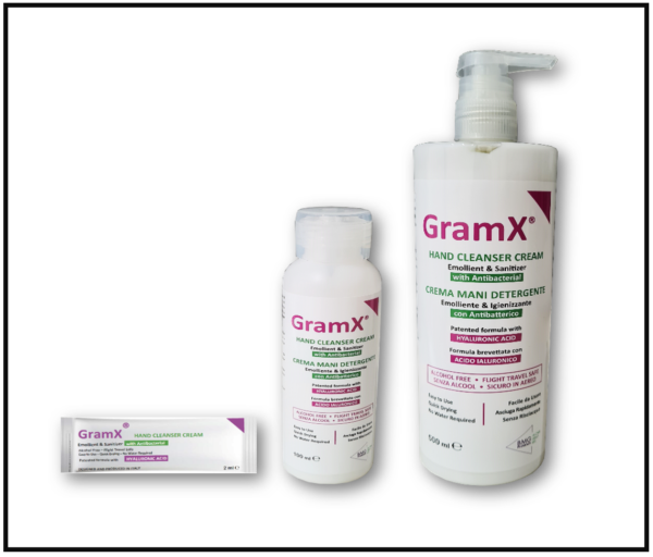 GramX cream sanitizer for protection against diseases like covid-19