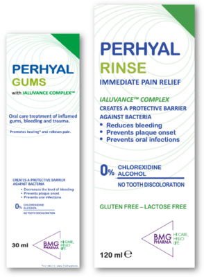 Closeup picture of BMG Pharma Perhyal products' package